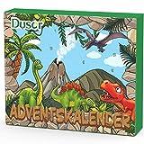 Dusor Adventskalender Dinosaurier 2020, 24 Stücke Verschiedene Überraschungen Dinosaurier Spielzeug für Jungen Weihnachtskalender Geschenk