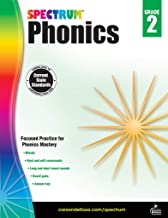 Spectrum Paperback Phonics Workbook, Grade 2, Ages 7-8