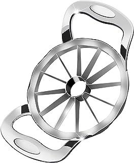 Newness Apple Slicer, [Upgraded] 12-Slice Apple Slicer and Corer, Heavy Duty Stainless Steel Apple Cutter, Pitter, Divider...