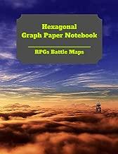Hexagonal Graph Paper Notebook: RPGs Battle Maps: Create Your Own Hex Map