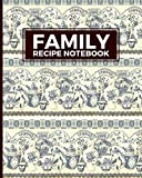 Family Recipe Notebook: Weekly Meal Ideas Blank Cookbook. Family Cooking Journal