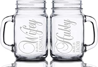 personalized etched mason jars