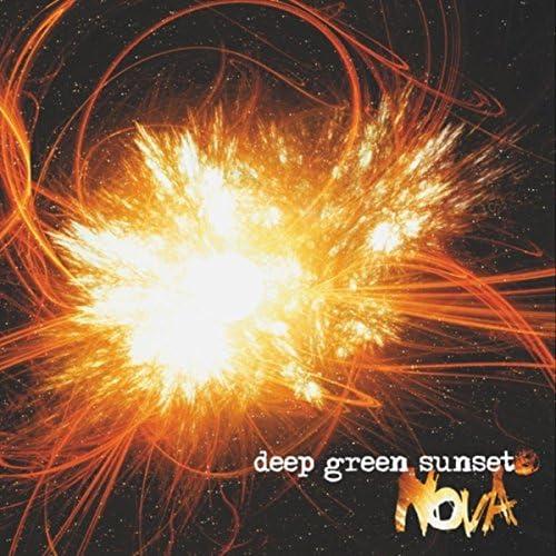 Deep Green Sunset