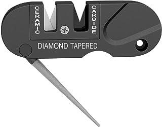 M&J Knife Sharpener Mini Pocket Keychain Sharpener Foldable Knife Sharpening Tool Outdoor Multifunction Sharpening Stone P...
