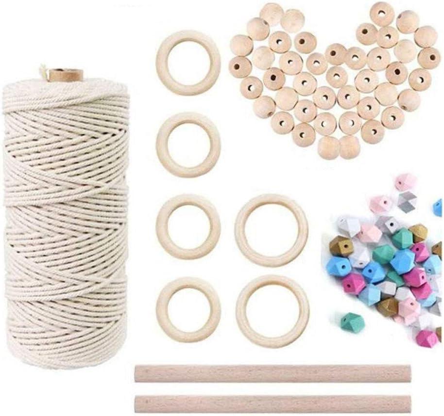 National uniform free shipping Ranking TOP10 Macrame Cord Natural Cotton Rope wi Weaving Tools