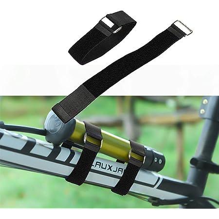 Durable Nylon Hook /& Loop Bike Tie Strap Cable Ties Reusable Fastening