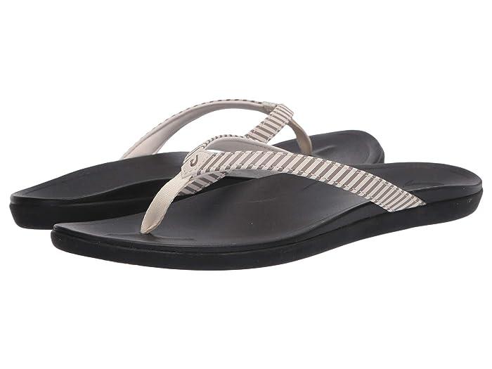 Ho'opio  Shoes (Bone/Stripe) Women's Sandals