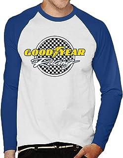 Goodyear Racinglogotyp herr baseball långärmad t-shirt