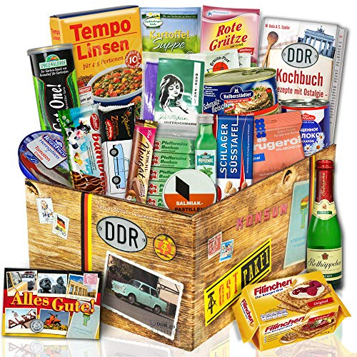 Ostpaket 'DDR SPEZIALITÄTEN BOX' / Geschenkset Geburtstag für Freundin