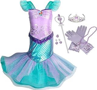 IWFREE Vestido Disfraz de Sirena Traje para Niña, Disfraz