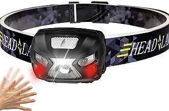 dingtian Hoofdlamp, 1000 lm, vermogen hoofdlamp, oplaadbaar, LED, LED-koplamp, bewegingssensor, zaklamp, camping, zaklamp ...