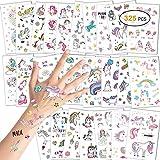 Konsait Tattoo Kinder, Einhorn Tattoos Set, Einhorn Tattoos Kinder, Einhorn & Regenbogen Temporäre...