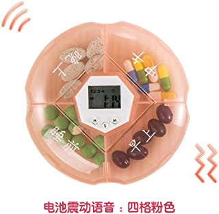 YRLHMYYH Medicine box Intelligence alert the timing household plastic cartridge housing box portable electronic dispensing kit (Color : M)