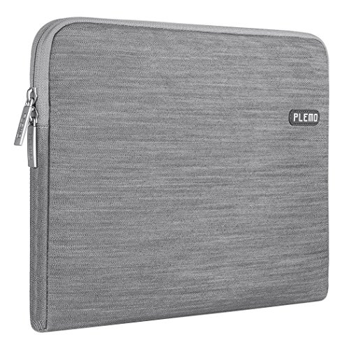 Plemo Laptophülle, Tasche für 38,1-39,6 cm (15-15,6 Zoll) Laptop / Notebook Computer / MacBook / MacBook Pro, Grau