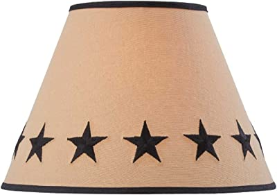 """Park Designs Black Star Embroidered Shade - 10"""""""