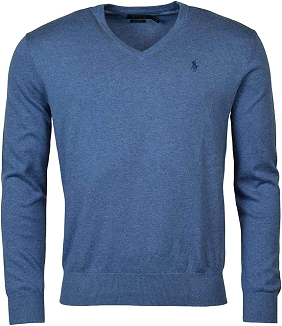 Polo Ralph Lauren Men's Classic Fit Sleeve Cott Pima Max National products 81% OFF V-Neck Long