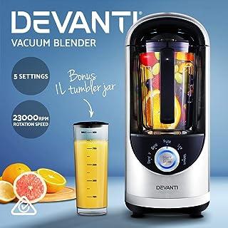 Devanti Commercial Vacuum Blender Juicer Mixer Food Processor Smoothie Silver