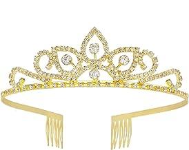 Gorgeous Pretty Rhinestone Tiara Crown Exquisite Headband Comb Pin Wedding Bridal Birthday Gold Tiaras