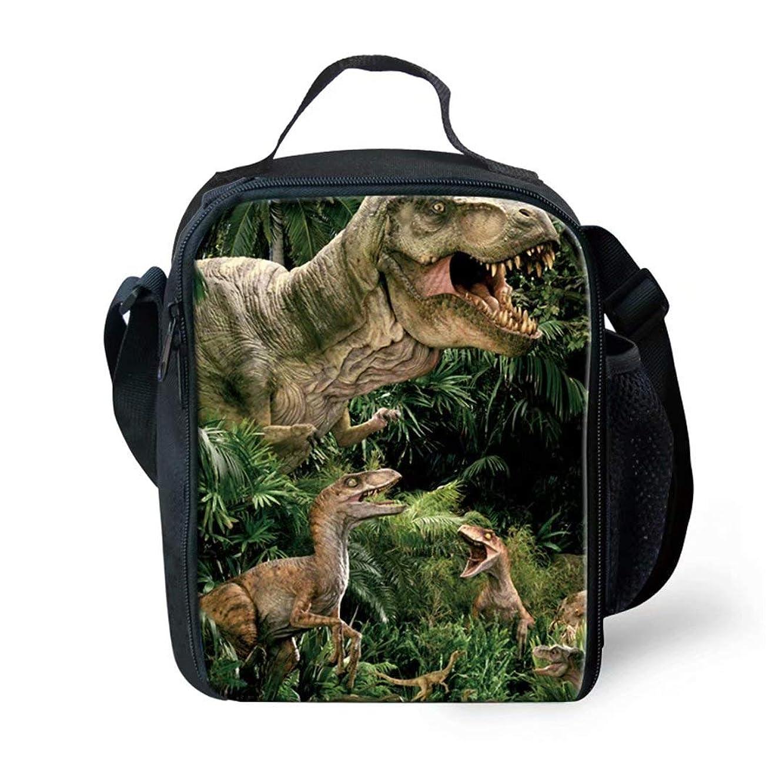 ALLCUTE Portable Children Lunch Bag Insulated School Outdoor Travel Dinosaur-b Lunchboxes Handbag