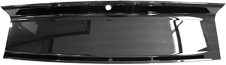 Trunk Boot Cover Compatible With 2015-2018 Ford Mustang | ABS Rear Trunk Cover Panel Decorating Board Carbon Fiber Look by IKON MOTORSPORTS | 2016 2017