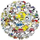 50 pegatinas de graffiti para niños con pastor alemán Snoopy Wow Team More Series Pegatinas para motos de niños, monopatines, diarios de mano y álbumes de recortes