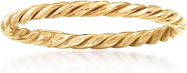 Ross-Simons 18kt Yellow Gold Rope Ring