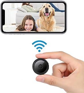 Mini Camara Espia Oculta,1080P HD Vigilancia,Portátil WiFi Cámara,Grabadora de Video,Camaras de Seguridad Pequeña con Visu...