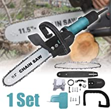 JIAIIO Multifunction Portable Logging Chain Saw Adjustable Hand-held Chainsaw Electric Angle Grinder For Garden Woodworking Power Tools