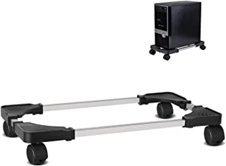 Liitrton Mobile CPU Stand Adjustable Computer Tower Stand with 4 Caster Wheels Fits Most PC