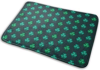 St. Patrick's Day Lucky Shamrock Green Carpet Non-Slip Welcome Front Doormat Entryway Carpet Washable Outdoor Indoor Mat Room Rug 15.7 X 23.6 inch