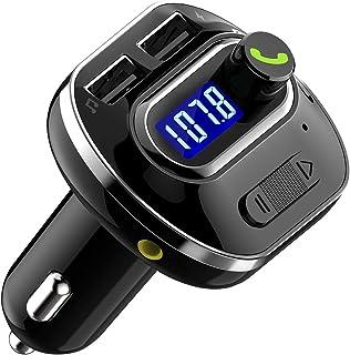HaiQianXin V4.1 Bluetooth FM Transmitter für Auto Wireless Radio Transmitter Adapter mit USB Port Musik Player Unterstützung Aux Out TF U Disk Freisprecheinrichtung Auto Kit