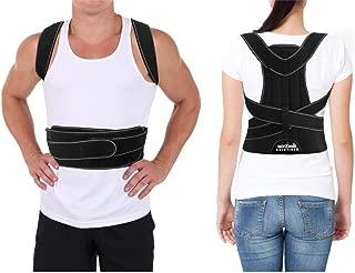 Posture Corrector for Men and Women Largest Coverage Area + Extra Support Bars Correctors for Bad Posture Slouching Hunching Shoulder & Upper Back Straightener Braces Correct Posture (Large)