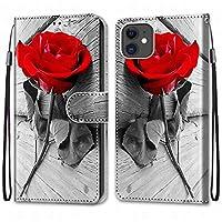 Laybomo Apple iPhone 11 ケース カバー 手帳型, [カードスロット]および[キックスタンド]付きの磁気閉鎖完全保護設計ウォレットフリップ 財布型カバー対応 Apple iPhone 11電話ケース, 塗る 4