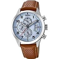 ca78d2ac2df Festina Mens Chronograph Quartz Watch with Leather Strap F20271/4