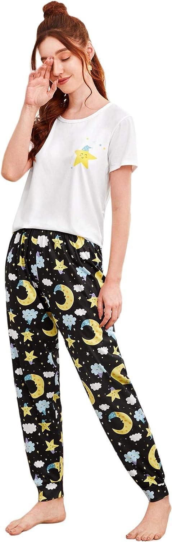 DIDK Women's Pajama Tulsa Mall Set Casual Short Sleeve Pants Top low-pricing Sleepw and