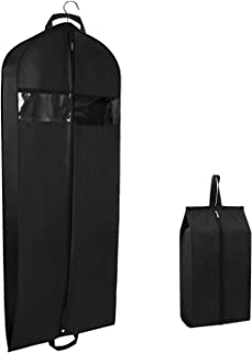 "Zilink Garment Bags Suit Bags for Travel and Storage 60 inches Dress Travel Bag with 3.9"" Gusseted and Zipper Pockets for Suit Fur Coat Dress"