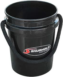 Shurhold 2452 Black 5 Gallon Bucket with Black Rope Handle