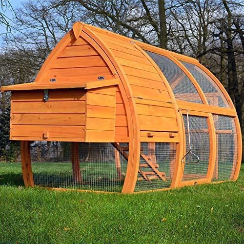 zooprinz Design Hühnerstall - aus massivem Vollholz und stabilem Draht - Hühner-stall mit Nistkasten schnell zu reinigen - witterungsbeständig Dank hochwertiger Lasur - Hühnerstall