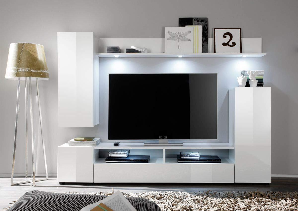 Dreams4Home Diosis - Mueble de salón (208 x 165 x 33 cm), Color Blanco Brillante: Amazon.es: Juguetes y juegos