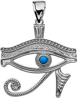 Sterling Silver Egyptian Blue Eye of Horus Pendant
