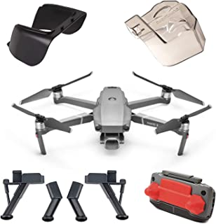 Accessories Bundle Set for Use with DJI Mavic 2 Pro Combo Lens Cap Hood Sun Shade Camera Cover Protector Landing Gear Guard Protective Bubble Remote Controller Clip Accessory (4 Pack)