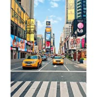 6x8フィート ビニール ニューヨークタイムスクエア ストリート タクシー 写真スタジオ背景