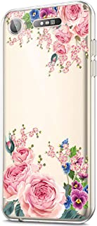 ikasus Case for Sony Xperia XZ1,Crystal Clear Art Panited Design Soft Flexible TPU Ultra-Thin Transparent Rubber Gel TPU Protective Case Cover for Sony Xperia XZ1 Silicone Case,Pink peony flower