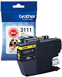 【brother純正】インクカートリッジイエロー LC3111Y 対応型番:DCP-J987N、DCP-J982N、DCP-J587N、DCP-J582N、MFC-J738DN 他