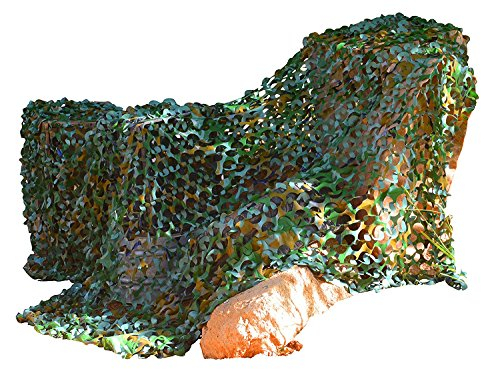 Kangaroo Army Safari Camouflage Netting- 8' x 6' Green Camo Netting, 48 Sq Ft