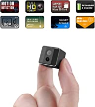 Mini Spy Camera 1080P Cop Spy Cam As Seen On TV-Spy Camera Wireless Hidden-Mini Camera Spy Wireless-Hidden Spy Camera -Nanny Cam with Night Vision and Motion Detection-Built-in Battery-No WiFi Needed