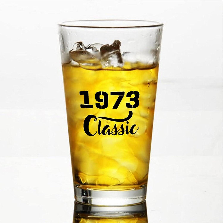 1973 Classic Craft Vasos de cerveza personalizados, vaso de cerveza de pinta de 16 onzas Ideas para Chrismas,Día de Acción de Gracias, papá, mamá, marido, esposa, padrino presente.