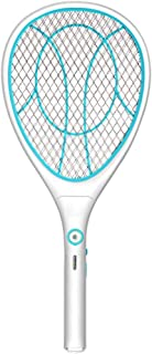 Electric Swatter Racket USB Rechargeable LED Lighting Double Layers Mesh Protection