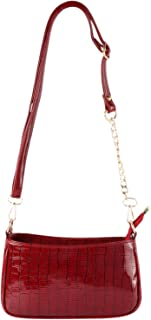 GM CREATIONS™ Leatherette Formal Casual Stylish Shoulder Crossbody side Sling Handbag With Detachable chain strap For Wome...