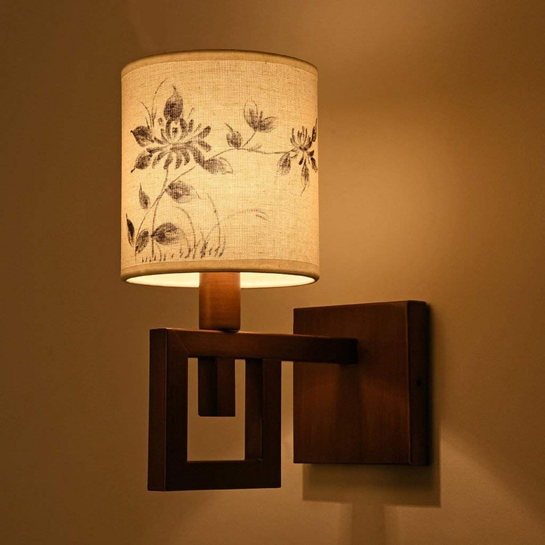Moderne Wandleuchte für Schlafzimmer Wohnzimmer Lesen, Eisen + Stoffe (Nicht im Lieferumfang Enthalten E27 Lichtquelle)